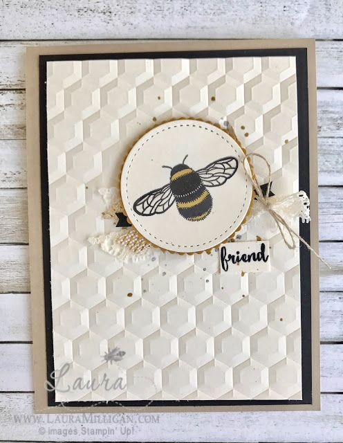 """Laura Milligan, Stampin' Up! Demonstrator - I'd Rather """"Bee"""" Stampin!: Friend - SU - Dragonfly Dreams"""
