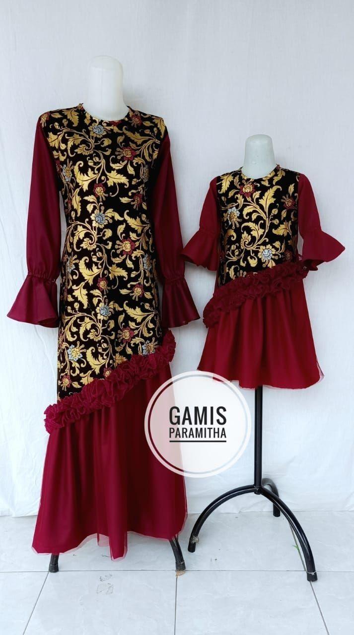 Gamis Batik di 11  Gaya model pakaian, Model pakaian muslim