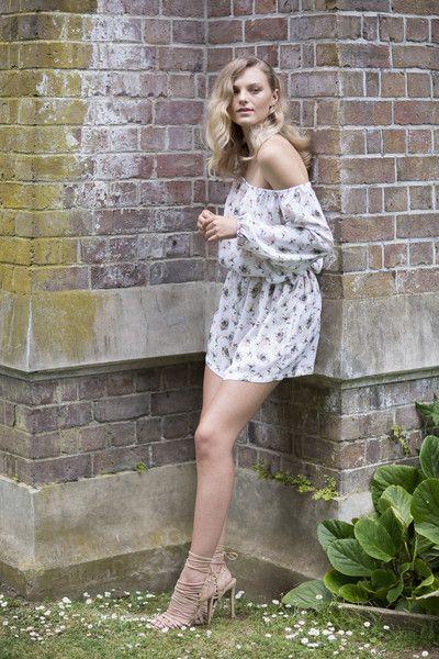 Céline Rita Floral Jumpsuit Off shoulder Wintergardens Auckland