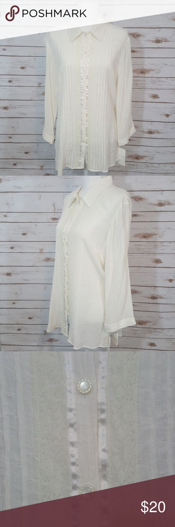 NWT Emma James Vintage inspired Lace Detail No flaws NWT perfect under a blazer. MAKE AN OFFER. BUNDLE AND SAVE Emma James Tops Button Down Shirts