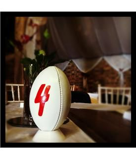 Plain White Mini Rugby Ball   Products   Little Wedding Ideas