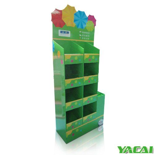 customized Umbrella display rack Green environmental protection,100% recyclable, convenient transportation,ship flat in bulk, contact us now for more other valuable information! http://www.popyacai.com/Cardboard_Display/Cardboard_Countertop_Displays/umbrella_display_stand_China.html