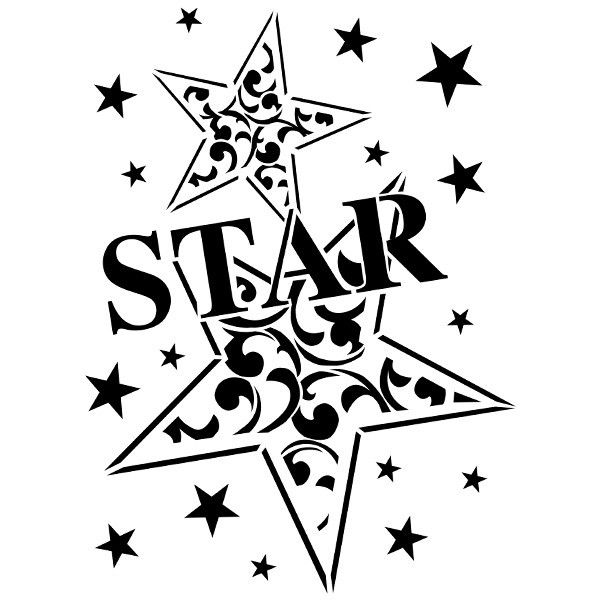 Laser-Kunststoff-Schablone, Din A4, Star