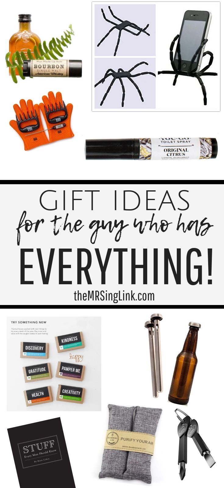 A Gift Guide For Him The Guy Who Has Everything Guy Friend Gifts Stocking Stuffers For Men Birthday Gifts For Boyfriend