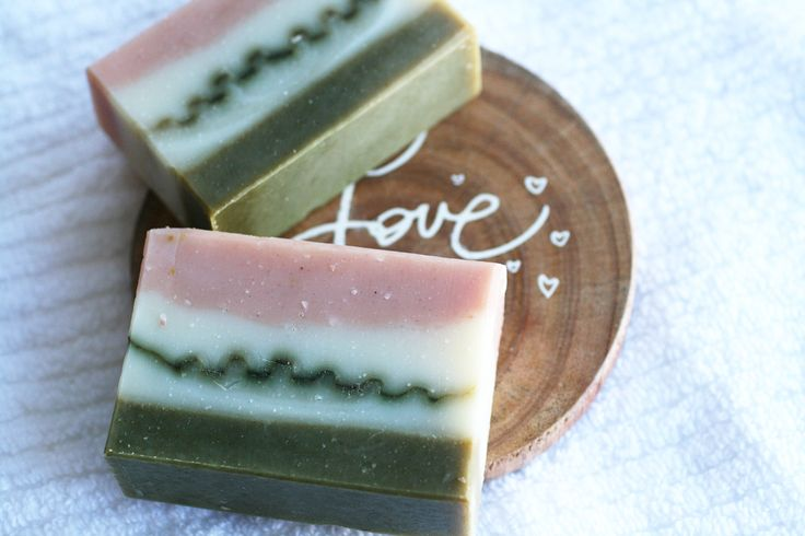Pink and Green Soap - One Leaf Soap-Natural Handmade Soaps