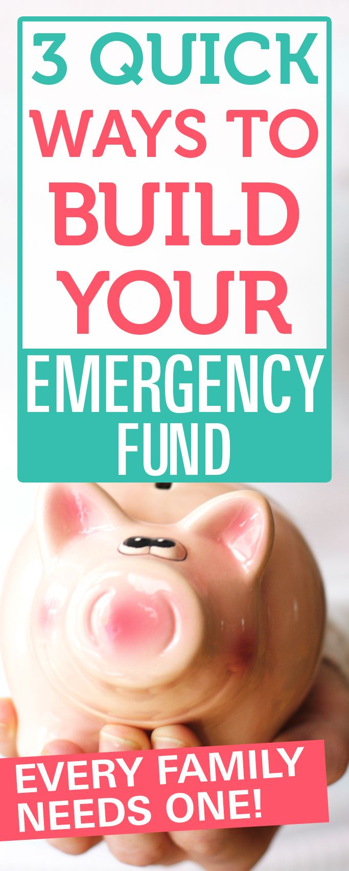 Make sure to build your emergency fund. Unexpected emergency expenses happen to everyone and it's good to be prepared for these situations. #savingmoney #emergencyfunds #diy
