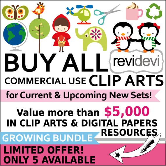 Lifetime Access to all commercial use cliparts digital by revidevi