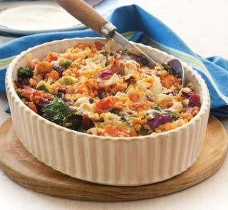 The high fibre, high protein and diabetes friendly Mixed vegie lentil bake recipe | Australian Healthy Food Guide