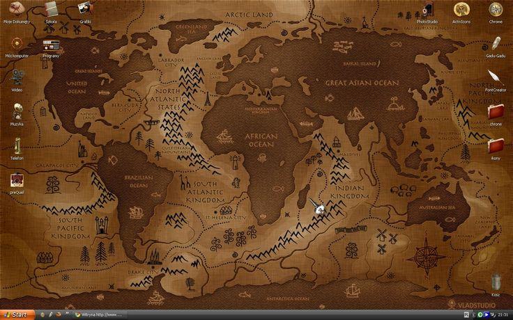 steampunk map wallpaper - photo #22