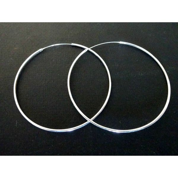 Sterling Silver Hoop Earrings Large Hoops Big Earrings Minimal Modern Greek Jewelry Gift for Her (€26) found on Polyvore featuring women's fashion, jewelry, earrings, earrings jewellery, earring jewelry, sterling silver earrings, hoop earrings and sterling silver jewellery