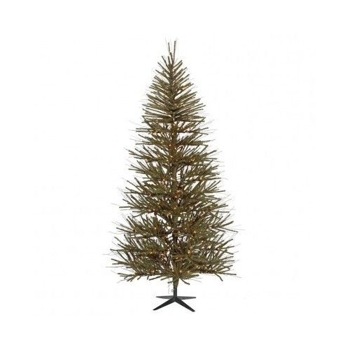 Christmas Artificial Tree Twig 7 Feet Brown Green House Indoor Decoration Unlit