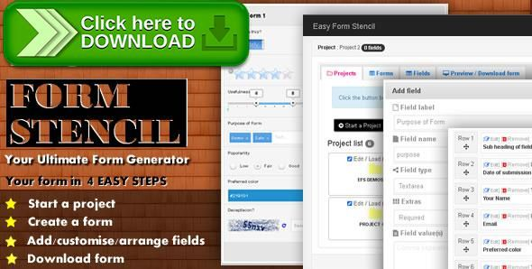 [ThemeForest]Free nulled download Easy Form Stencil from http://zippyfile.download/f.php?id=42365 Tags: ecommerce, crud   email form processing, drag drop sort form generator, easy form stencil, intuitive 4 step form generator