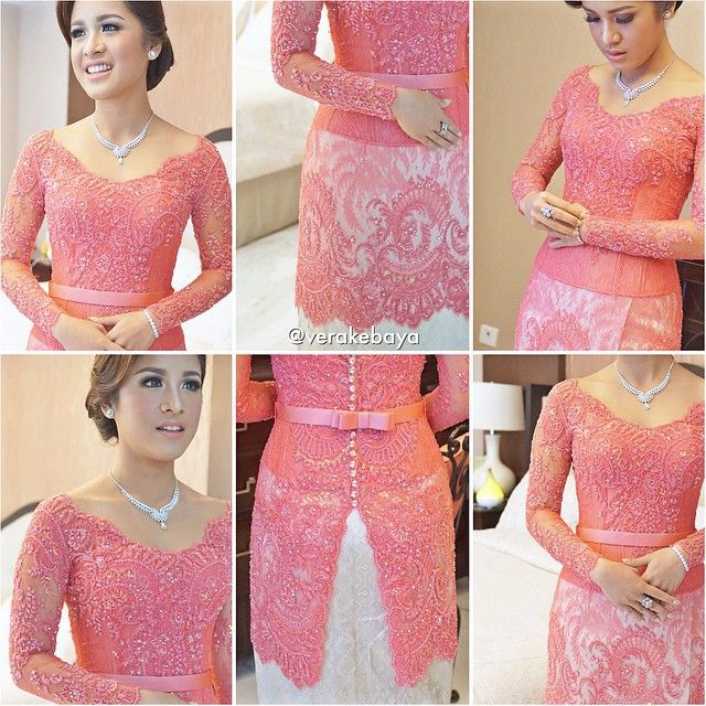 "7,629 Likes, 309 Comments - Vera Anggraini (@verakebaya) on Instagram: ""Details...💕 #kebaya #partydress #enagement #lamaran #bride #lace #beads #swarovski 💕"""