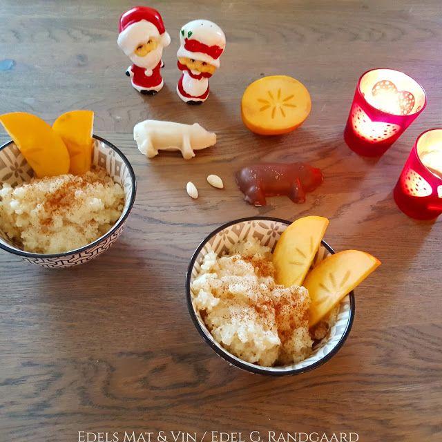 Edels Mat & Vin: Crock-Pot Risengrynsgrøt med julekrydder og Persim...
