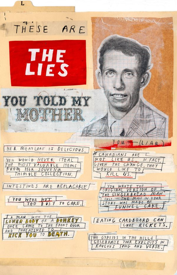 Things That Happened and Things We Made UP by David Fullarton, via Behance