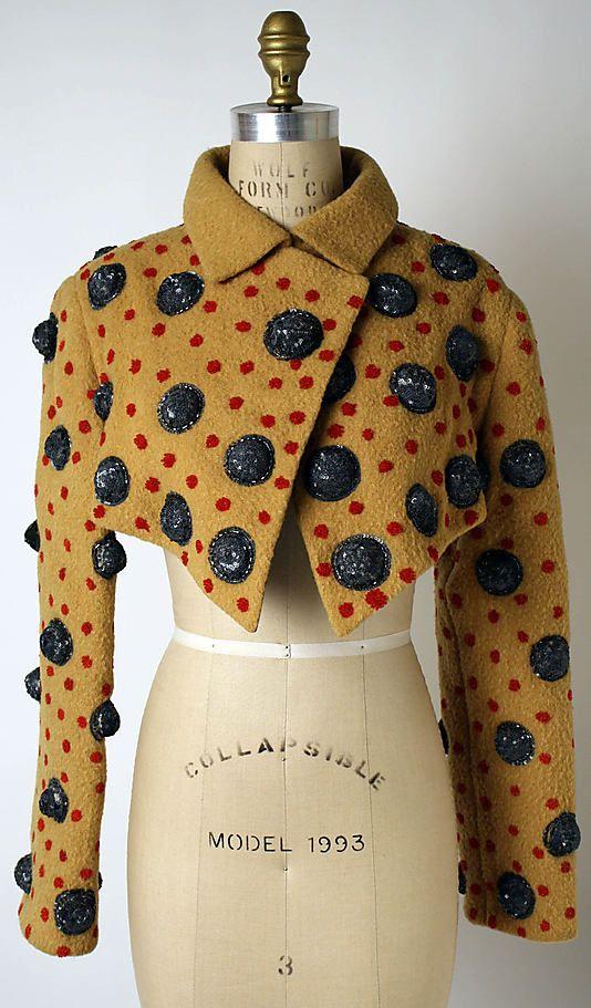 Jacket   Geoffrey Beene (American, 1927-2004)   United States, Autumn/Winter 1987-1988   Materials: wool, plastic, silk, hematite   The Metropolitan Museum of Art, New York