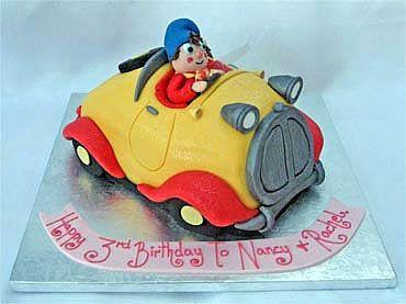 noddy in his car birthday cake from sugarlicious ltd