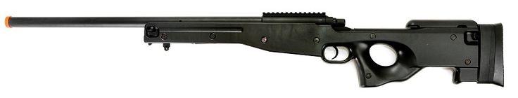 AGM L96 AWP Airsoft Sniper Rifle, Black, Bolt Action Airsoft Gun