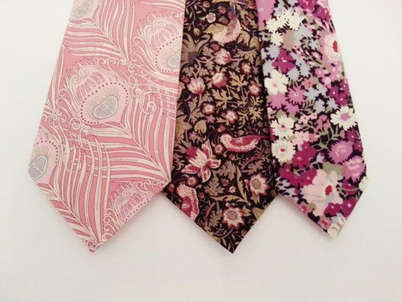 Hey, I found this really awesome Etsy listing at http://www.etsy.com/listing/163233043/pink-wedding-tie-liberty-of-london-print