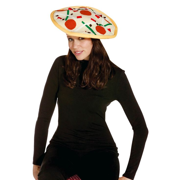 Halloween Adult Pizza Hat Costume Accessory, Adult Unisex, Tan
