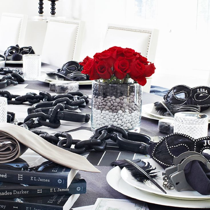 Masks, chains, and more for a fun party worthy of Christian Grey's tastes.