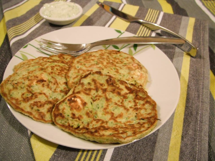 Zucchini & Fetta Fritta's with Tatziki Dip. Click on the image for the recipe.