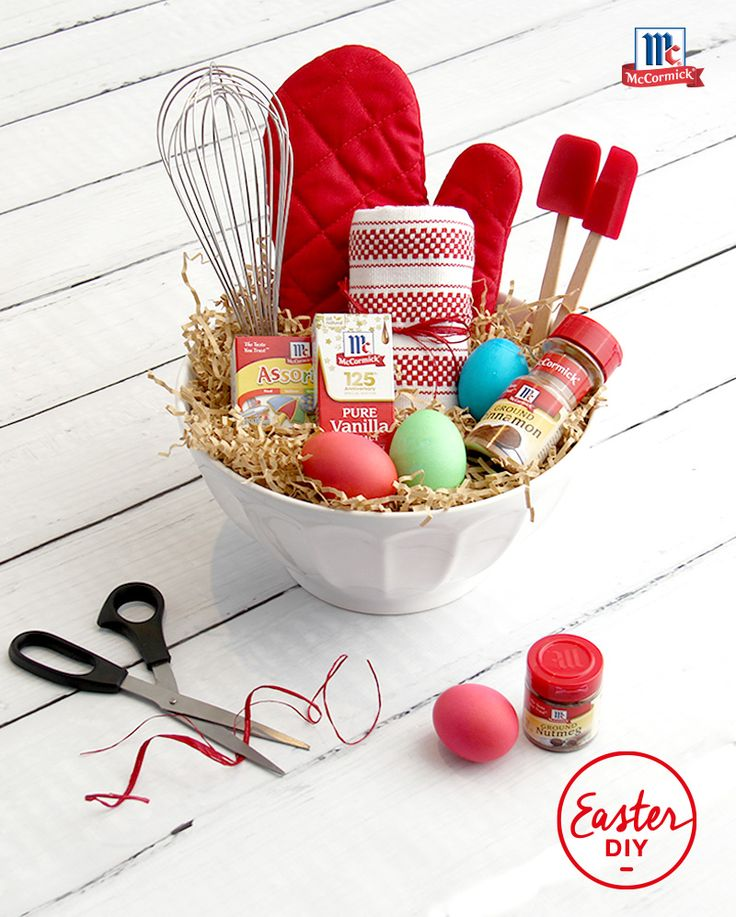 70 best diy crafts decorating ideas images on pinterest hand this baking baskets stocked with all the things that make easter brighter negle Images