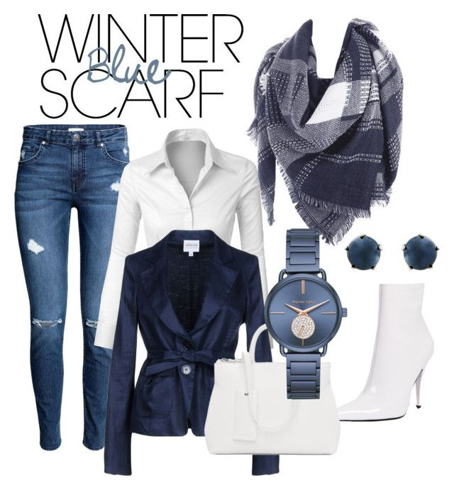 """""""Winter Blue Scarf"""" by inauniqe on Polyvore featuring LE3NO, Armani Collezioni, Jeffrey Campbell, Marsèll, Michael Kors, Lulu Frost and winterscarf"""
