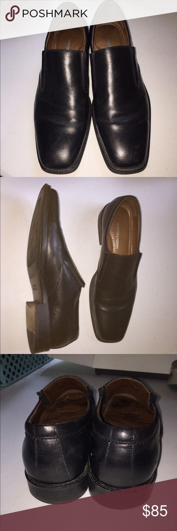 Johnston & Murphy slip on loafers! Men's Johnston & Murphy slip on loafers. Leather! EUC! Can hardly tell these were ever worn except for the slight wear on sole! Awesome shoes! Johnston & Murphy Shoes Loafers & Slip-Ons