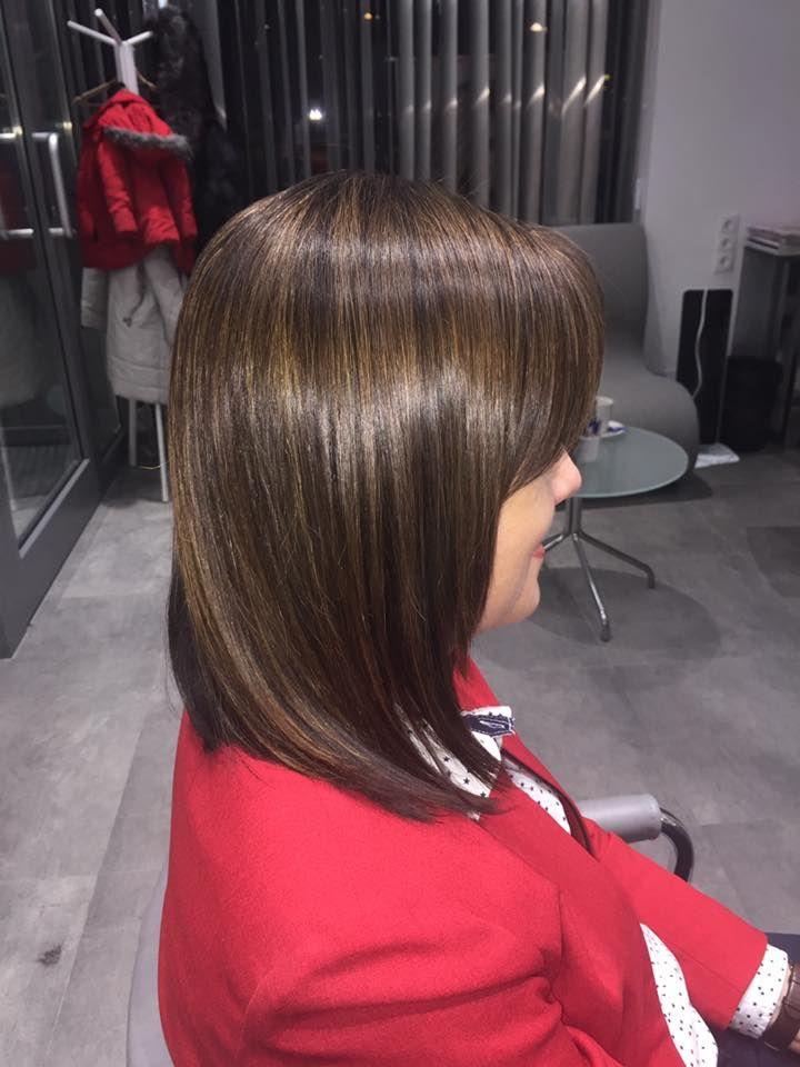 Wykonanie: Monika. www.fryzjer.lublin.pl #brown #long #hair #dyed #color #woman #fryzjer #fryzury #damskie #włosy #Lublin