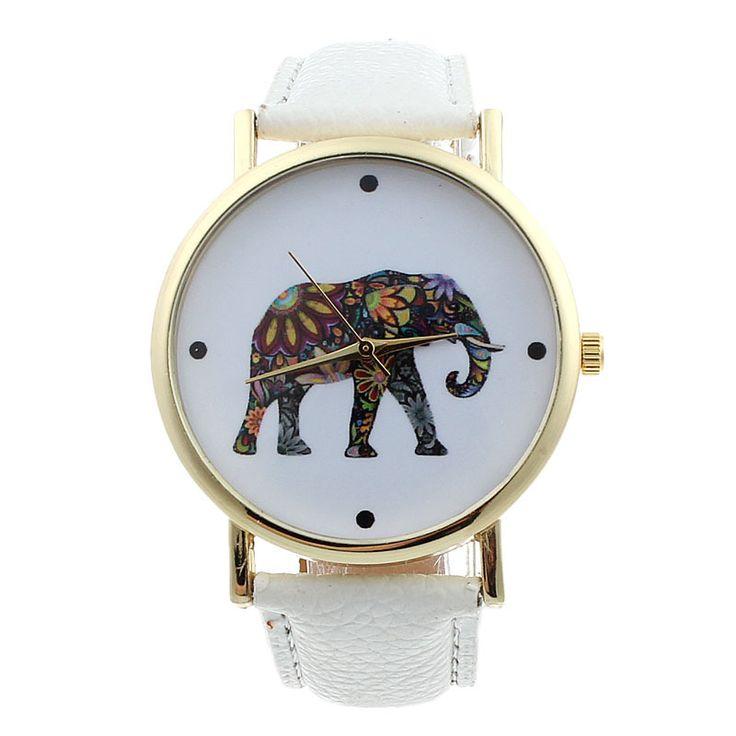 Montre éléphant blanche
