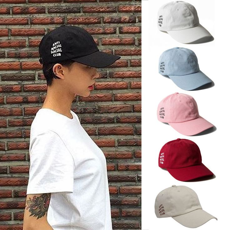 Anti Social Club Hat Cap Antisocial Social Club Weird Hat Street Baseball Caps | eBay