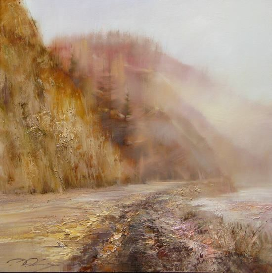 Road in the mountains-75х75.2011.Denis Oktyabr