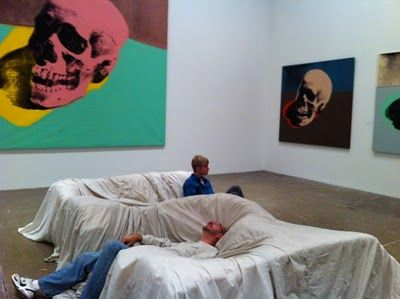 Exceptional John Chamberlain Sofa Made Of Foam Covered With Parachute Silk At The Andy  Warhol Museum Artsy