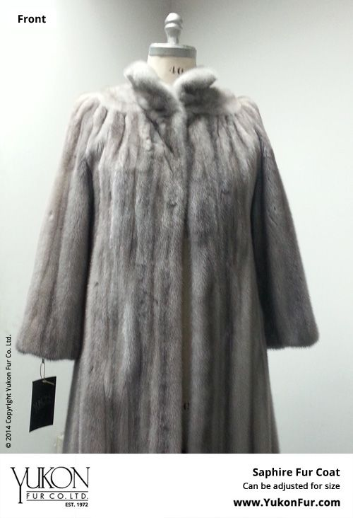 Saphire Fur Coat  $12,900.00  Size: 8 Lining: Silk  Can be adjusted for size  http://www.yukonfur.com/wp/product/2100-saphire-fur-coat  For details call +01.416.598.3501 or email Chris, chris@yukonfur.com