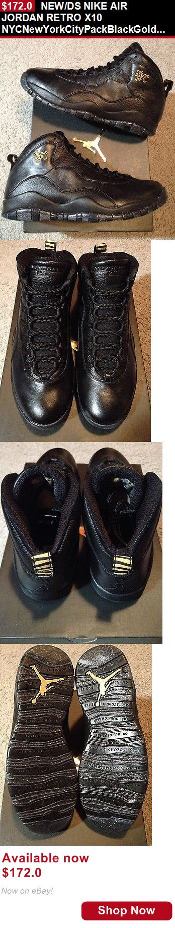 Men shoes: New/Ds Nike Air Jordan Retro X10 Nycnewyorkcitypackblackgold Mens Size 12 Ovo BUY IT NOW ONLY: $172.0