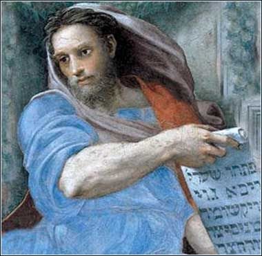 """The Prophet Isaiah - Raphael ca. 1512 - Isaiah 45:18For this is what Jehovah says, The Creator of the heavens, the true God, The One who formed the earth, its Maker who firmly established it, Who did not create it simply for nothing, but formed it to be inhabited: """"I am Jehovah, and there is no one else."""