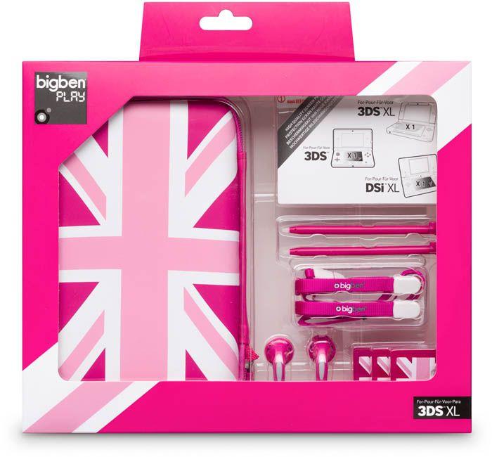 Pack UK per Nintendo 3DS™ XL (Rosa) - Da Bigben Interactive. Ulteriori informazioni qui: http://www.bigbeninteractive.it/produit/produit/id/8013