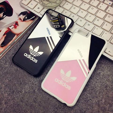 iPhone SE ケース アディダスAdidas iPhone6sケース カップルペアケース 親友お揃い 可愛い 鏡として使える iPhone6s plusカバー 運動風