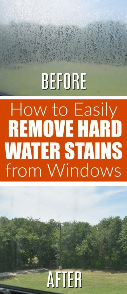 how to remove hard water stains and spots from windows and glass | DIY green cleaning tutorial and tips for bathroom