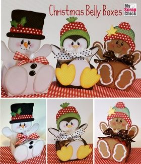 Christmas Belly Boxes: click to enlarge