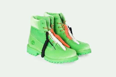 Designer Lime Green Work Boots : green Timberlands