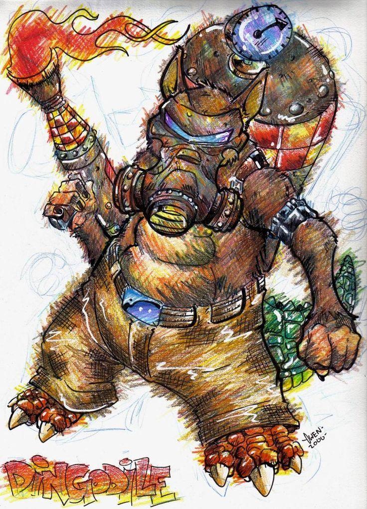 From the game Crash Bandicoot. Crocodile Dingo Hybrid DINGODILE!!