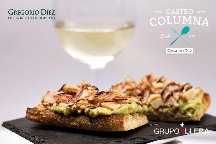 Tosta de pollo con guacamole en María Eugenia, Calle Dulzainero Ángel Velasco, Valladolid