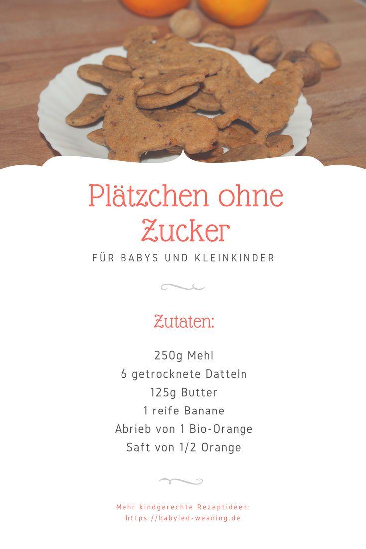 Weihnachten mit BLW: Kekse ohne Zucker – ab 6 Monaten   – Babyled-Weaning.de Rezepte