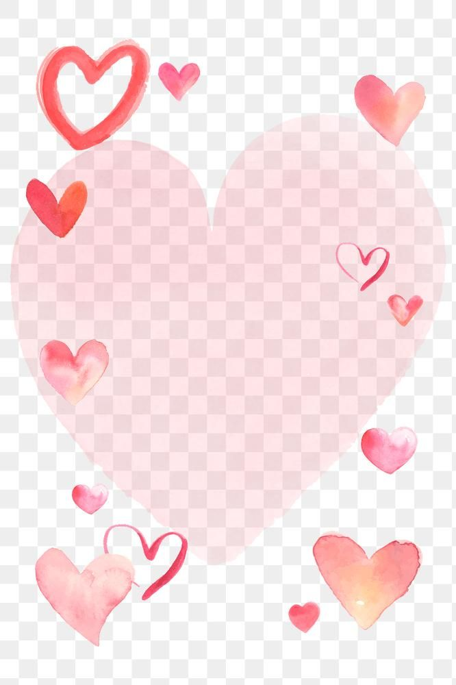 Happy Valentine S Day Frame Png With Watercolor Hearts Free Image By Rawpixel Com Namcha In 2021 Valentines Happy Valentines Day Happy Valentine