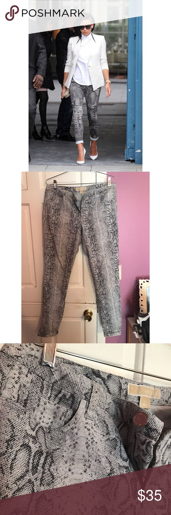 Michael Kors Python Print Pants ✨✨ Michael Kors Python Prints Pants. Size 8. Fits VERY well. Like a glove. MICHAEL Michael Kors Pants Skinny