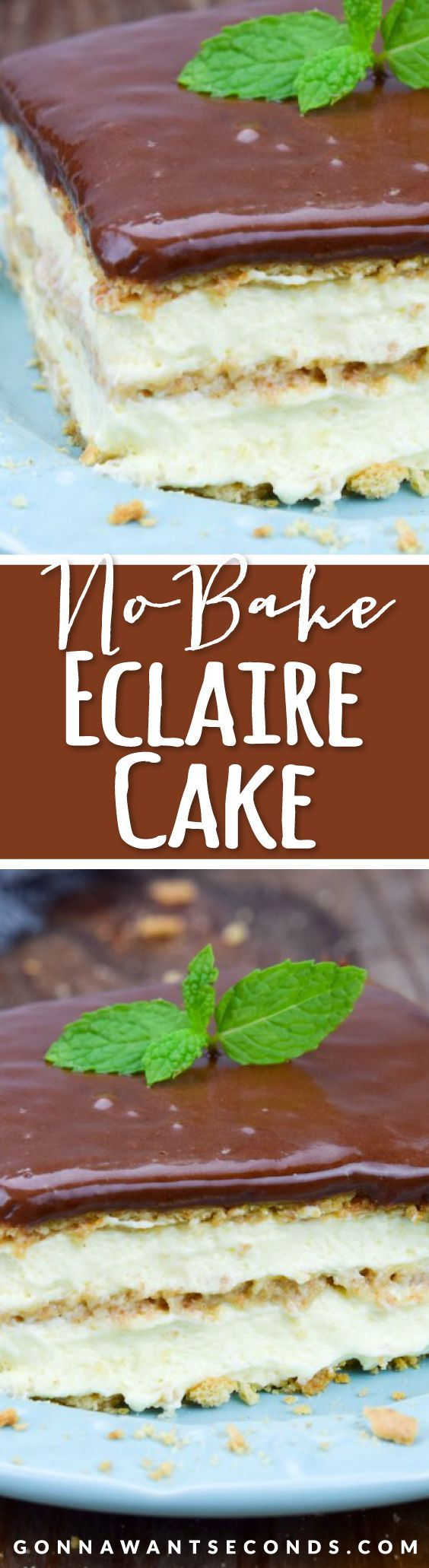 This scrumptious No Bake Eclair Cake is a snap to make and you won't believe how delicious it turns out!!!