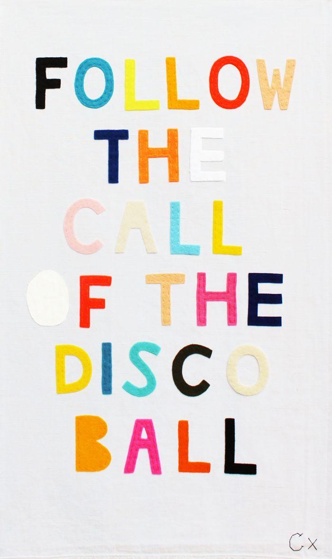 follow the call of the disco ball...