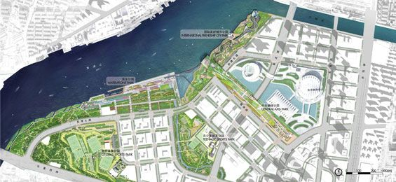 Swa wins pudong waterfront design competition world for Swa landscape architecture